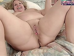 Beauty Blonde Bbw Tight Asshole Gets Dildoed Solo