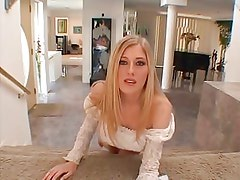 British slut Michelle B DP on the sofa