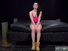 Tied up in dungeon and perfect skinny teen