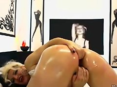 Hot Blonde MILF having fun with her dildo live on webcam