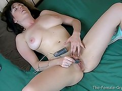 Hot Babe Masturbates to Orgasm in Two Views