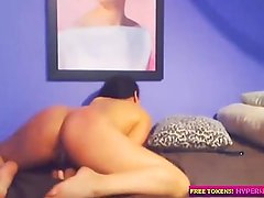 Latina Cam Girl With Perfect Ass Rides her Dildo to Orgasm