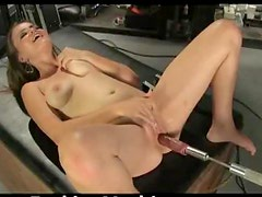 A Fucking Machine Is Going To Give This Babe Several Orgasms