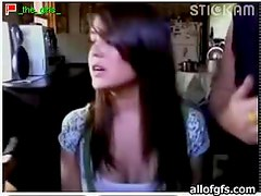 Amateur Blonde And Brunette Play On Camera