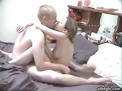 Blonde Baby Is Fucked By And Older Man In Her Bedroom