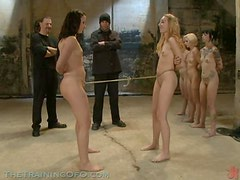 BDSM Experiment with Blonde and Brunette Tied Up Babes
