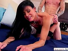 Trimmed hot stepmom India Summer in Stockings