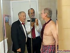 Hairy chest old man Frannkie goes and