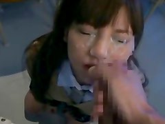 Cute Japanese Girl After School Facefuck - and Huge Facial