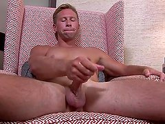 ActiveDuty Gorgeous Str8 Army Hunk Fondles his Cock