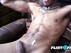 Ripped Ebony Stud Eric Buck Enjoys His BBC