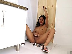 Shemale Jessi has some Glory Hole Fun