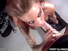 First Class POV - Juelz Ventura take a big dick in her mouth, big boobs