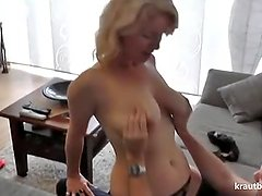 German amateur grandmother gets fucked by her new neighbor