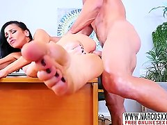 Belligerent Aunt Brunette Audrey Bitoni Makes Hardcore Sex