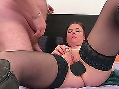 046 - Double big toys penetration and cumshot