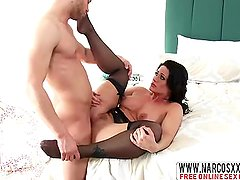 Daddies Princess Holly Heart In Stockings Enjoys Old Cock
