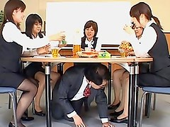 Crazy japanese men stroke in office on cute office girls