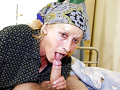 Old couple fucking a sexy and willing nurse