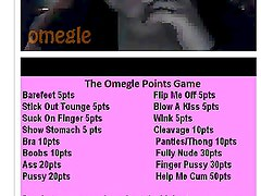 Very Fat girl play the omegle game