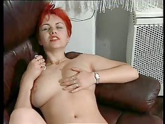 Boring Mature Redhead Likes Her Sex Toys