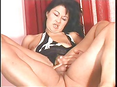 Mature brunette with nice tits is ripped out of her clothes anal fucked on bed
