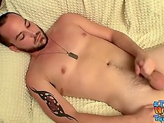 Hot dude with big dick and sexy ass Puppy jacking it off