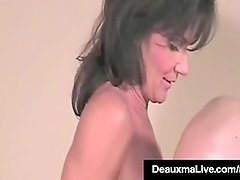 Mother May I? Deauxma Rides One Of Her First Cocks On Film!