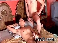 Gay young school boys barebacking and