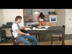 Hot Fuck Young Couple on kitchen table