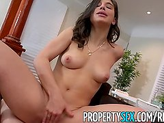 PropertySex - College student fucks hot ass real estate agent
