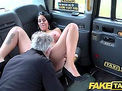 Fake Taxi Tattoos big juicy tits and long sexy legs gets anal