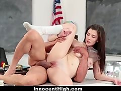 InnocentHigh - Hot Girl Fucked In Chemistry Lab by Teacher