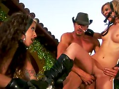 Outdoor pony play and blowjobs