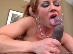 Wet sexy blowjob for a big black cock