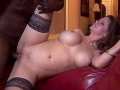 Big titty milf hardcore pornstar with a black cock