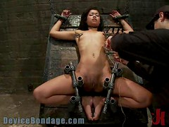 Ebony Cutie Tortured to The Extreme Of BDSM