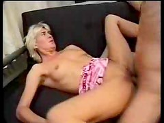 Mature amateur and young guy fuck lustily