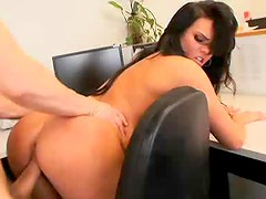 Big tits girl laid in the office