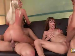 Slender and leggy wives get fucked by other husbands