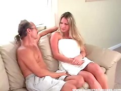 Pretty blonde with curvaceous round ass spanked red raw