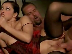Hot handjob from Euro babe arouses him for fucking