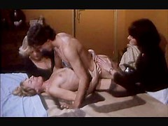 Hairy cunt fucking in a sexy retro video