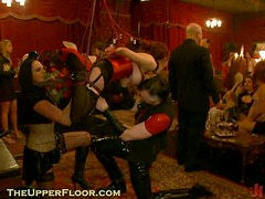 Horny Dudes and Gals Playing with Submissive Hot Babes