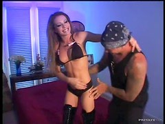 Sexy Vanessa Lane In Long Boots Having Anal Sex