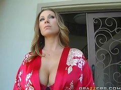 Insatiable Milf Slobs AL Over The Paper Guy's Hard Cock