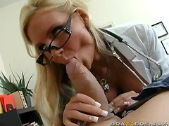 Sexy Dr. Marie Titty Fucks A Horny Patient With A Big Cock
