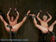 Blonde And Brunette Enjoy A Fun Game Of BDSM