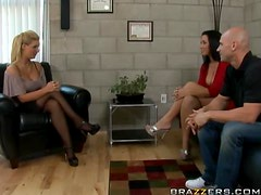 Hot Threesome Between Hot Couple And the Sexy Dr. Phoenix Marie
