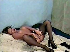 Luscious with stockings and high heels